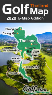 Thailand Golf Map